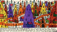 Howard Finster American, 1916–2001 Colician City, Visions of Other Worlds