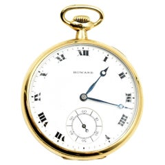 Howard Gold Plated manual wind Pocket Watch