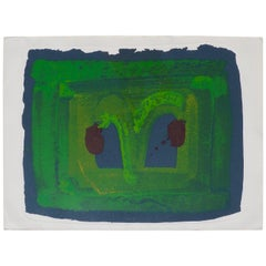 Howard Hodgkin Lotus Silkscreen, 1980