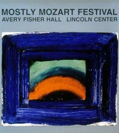 1989 After Howard Hodgkin 'Venetian Glass' Abstract Blue USA Offset Lithograph