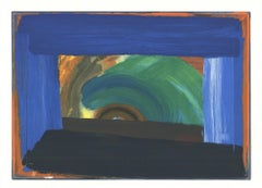 1995 After Howard Hodgkin 'Gossip (No Text)' Abstract Expressionist Serigraph