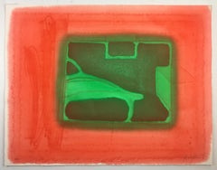 A Furnished Room Howard Hodgkin, colorful abstract red green interior scene