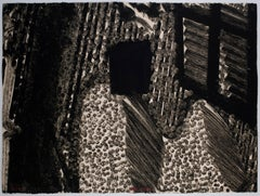 After Lunch Howard Hodgkin: Abstract black white painting, dots lines texture