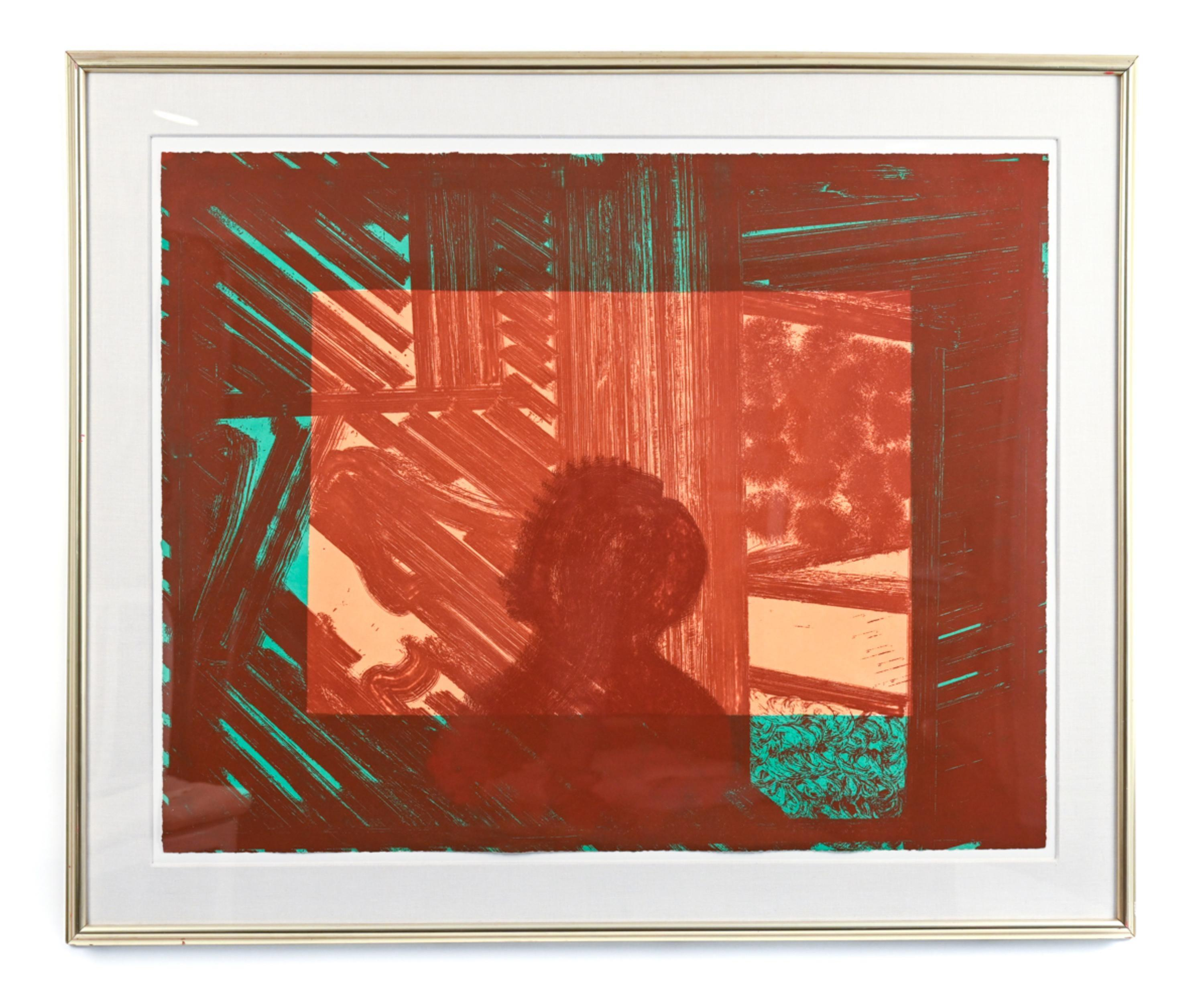 Artist and Model, Abstract Etching by Howard Hodgkin