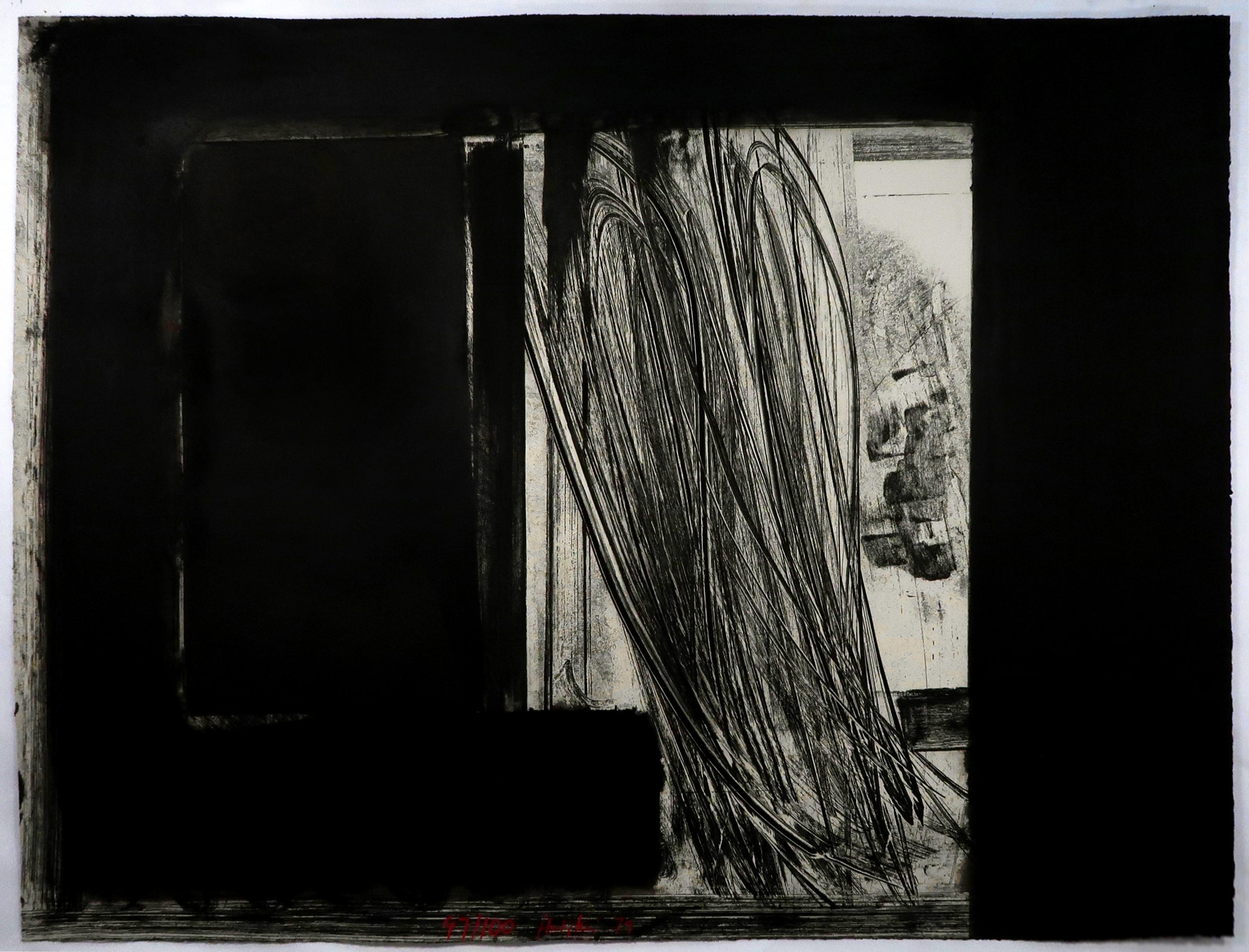 Howard Hodgkin Early Evening in the Museum of Modern Art: abstract black white