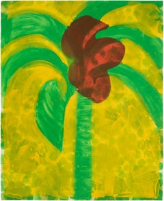 Flowering Palm - Howard Hodgkin, Abstract prints, intaglio, Print, Contemporary
