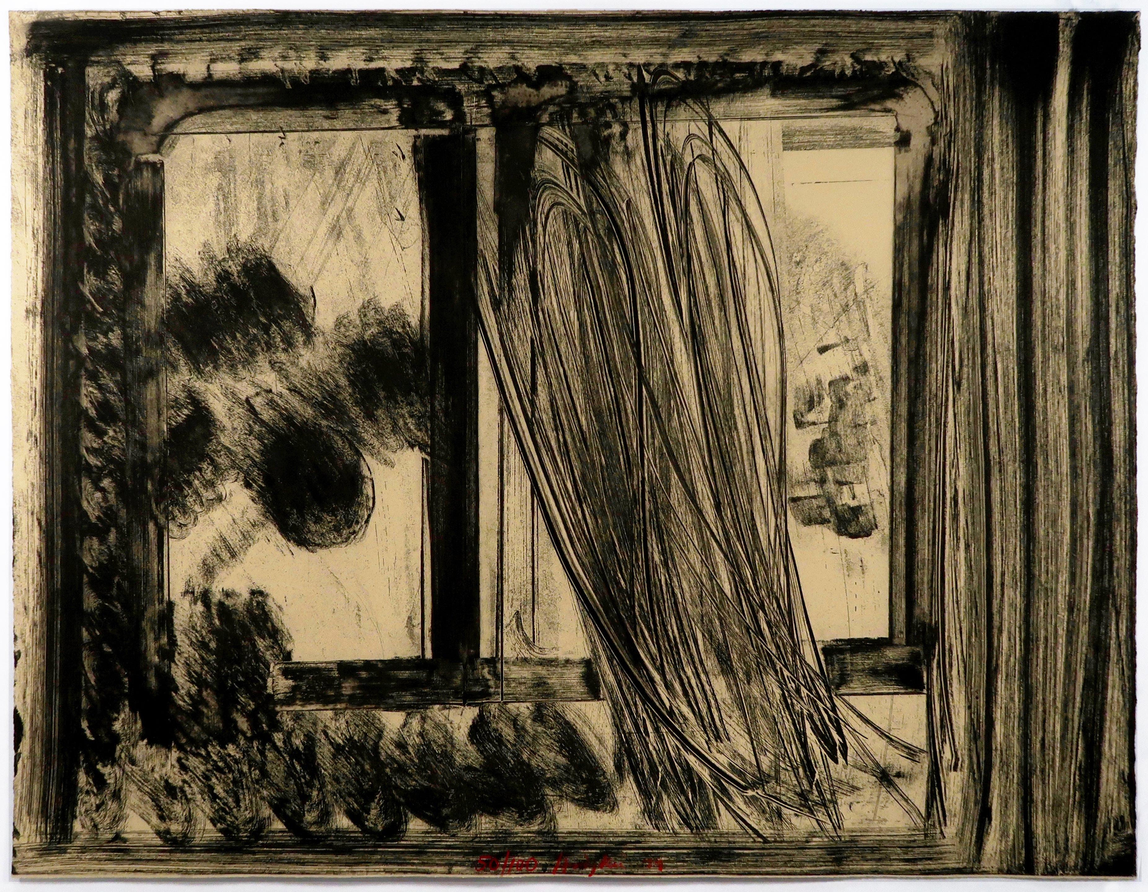 Howard Hodgkin Late Afternoon in the Museum of Modern Art abstract black white