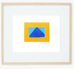 Howard Hodgkin Original Silkscreen 1971 Geometric Blue Orange Early Frame Print