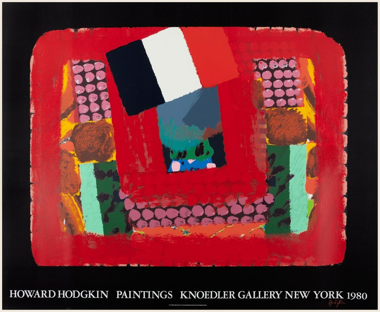 In a French Restaurant (Knoedler Gallery) SIGNED poster colorful expressionist  - Print by (After) Howard Hodgkin