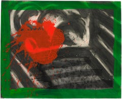 In an Empty Room - Howard Hodgkin, Abstract, Print, Intaglio, hand-colouring