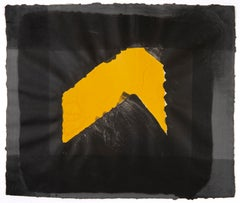 Jarid's Porch by Howard Hodgkin: abstract black grey and yellow gouache