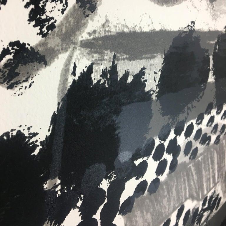 Souvenir, Howard Hodgkin: large scale black white gray abstract interior scene  For Sale 6