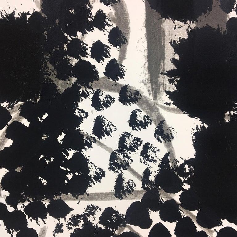 Souvenir, Howard Hodgkin: large scale black white gray abstract interior scene  For Sale 1