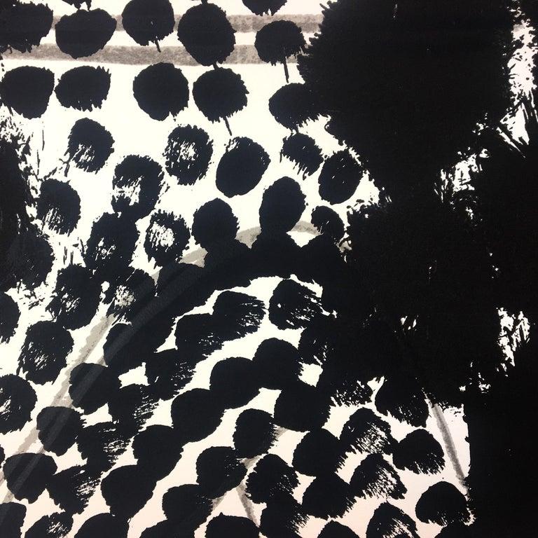 Souvenir, Howard Hodgkin: large scale black white gray abstract interior scene  For Sale 2