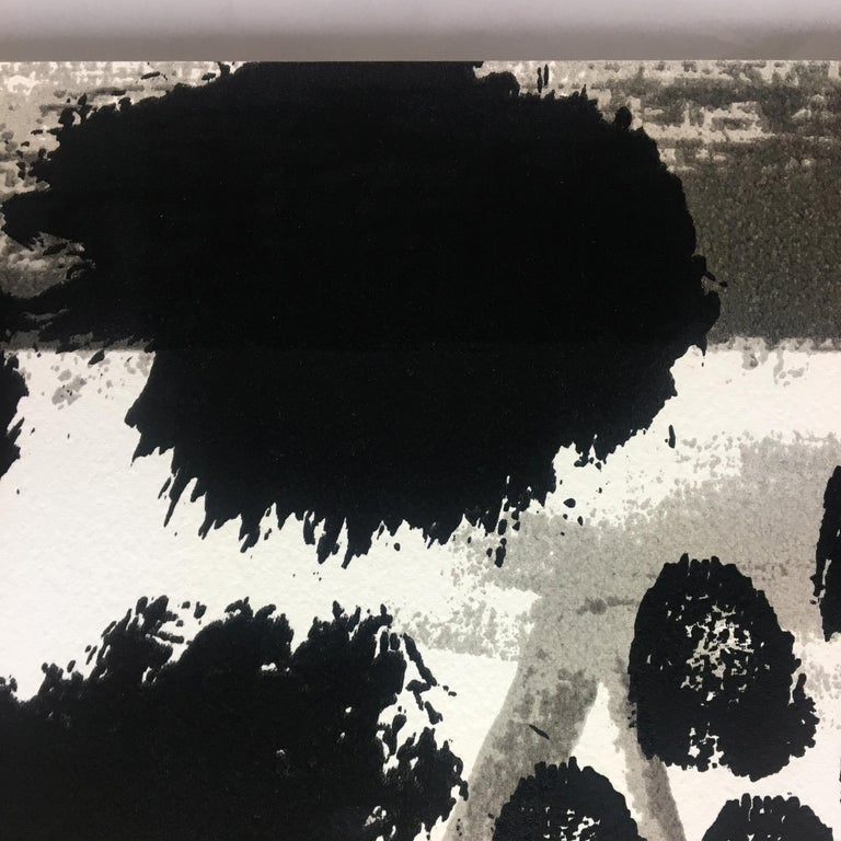 Souvenir, Howard Hodgkin: large scale black white gray abstract interior scene  For Sale 3