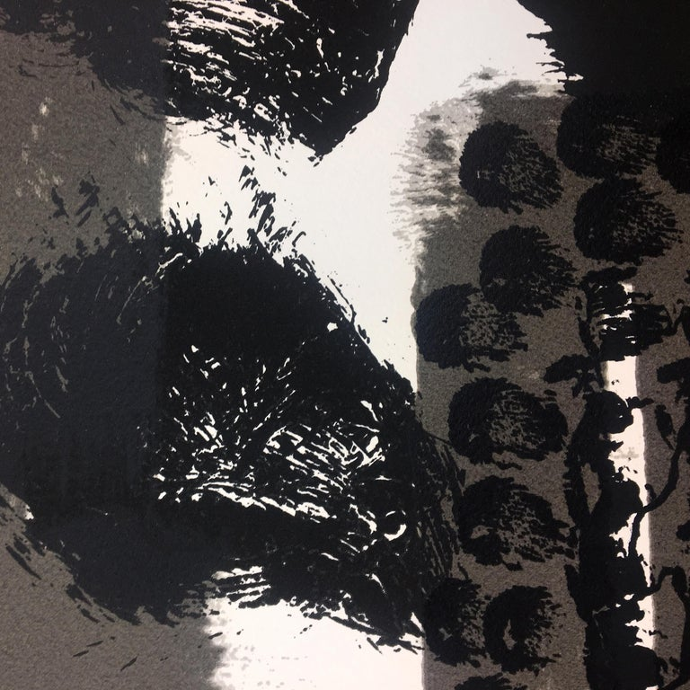 Souvenir, Howard Hodgkin: large scale black white gray abstract interior scene  For Sale 4