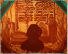 Those... Plants Howard Hodgkin red orange green etching watercolour gouache