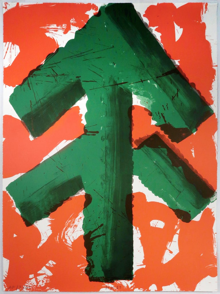 Howard Hodgkin Print - Welcome (Commissioned by Andy Warhol for Winter Olympics 1984, Sarajevo)