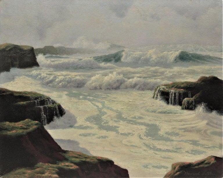 The Fog Rolls in Oregon Coast - Painting by Howard John Little