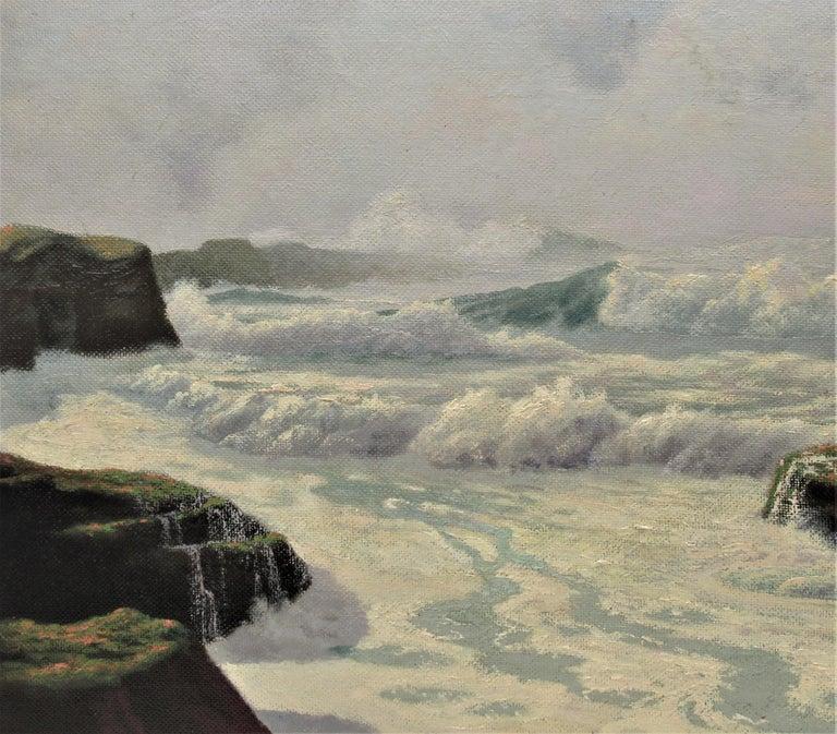 The Fog Rolls in Oregon Coast - American Impressionist Painting by Howard John Little