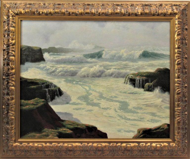 Howard John Little Figurative Painting - The Fog Rolls in Oregon Coast
