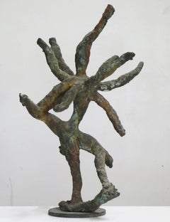 """""""Nataraja"""", abstracted, whirling bronze dancer inspired by Indian god Shiva"""