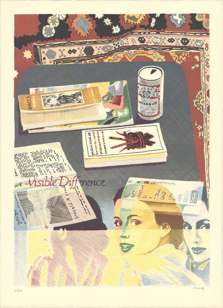 1975 Howard Kanovitz 'Visible Difference' Contemporary Green,Multicolor,Gray,Bla - Print by Howard Kanovitz
