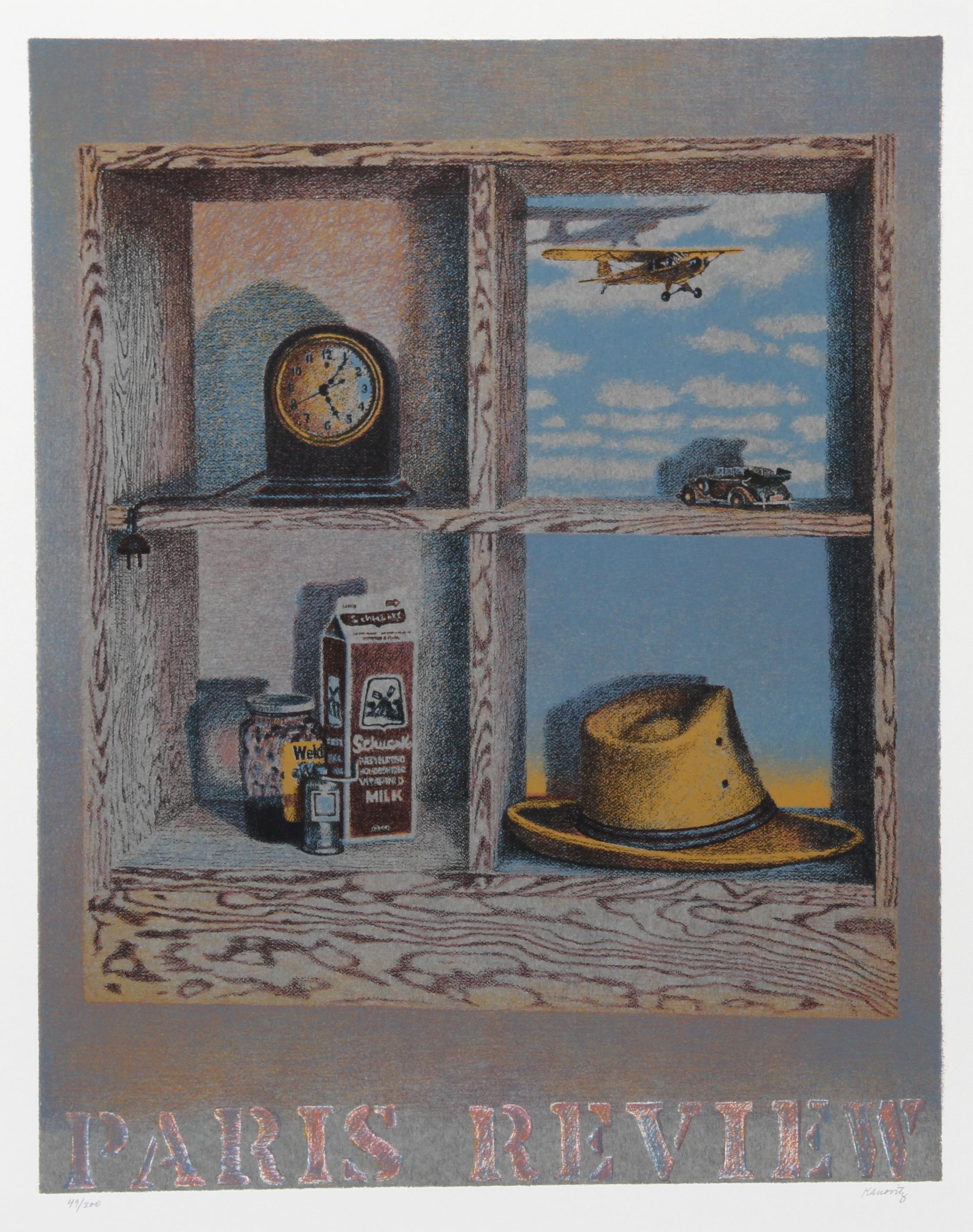 """Paris Review"", Lithograph by Howard Kanovitz"