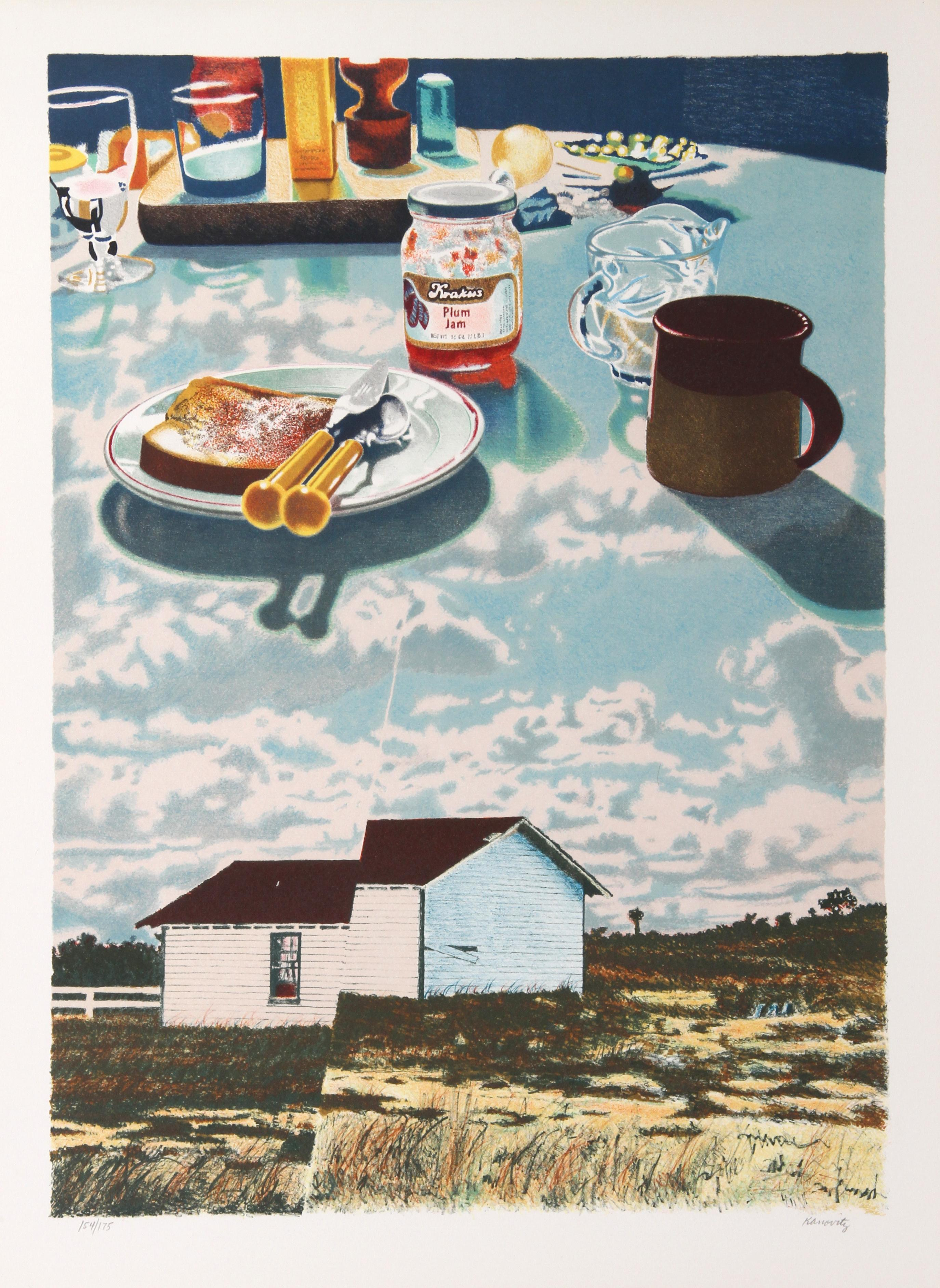 """Windmill Antilles"", 1980, Lithograph by Howard Kanovitz"