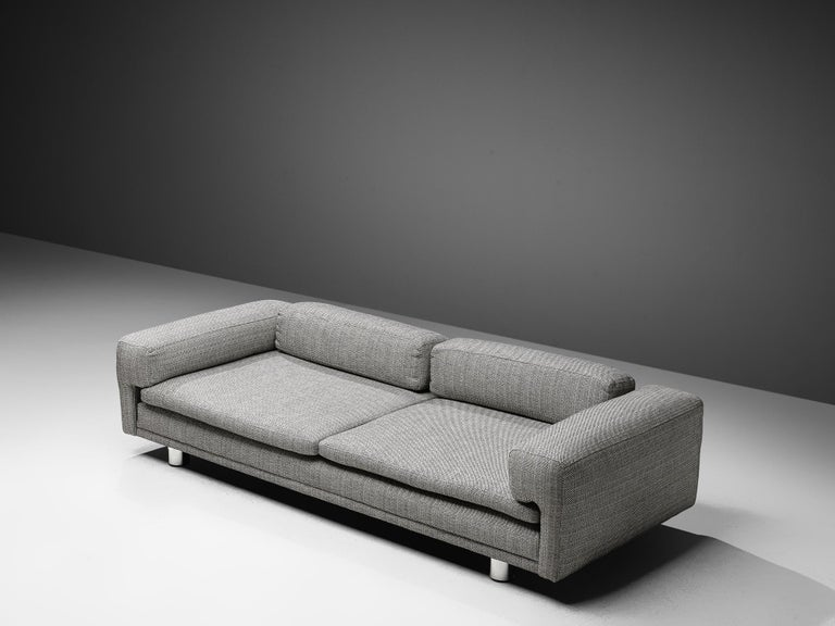British Howard Keith Grand 'Diplomat' Sofa in Grey Upholstery For Sale