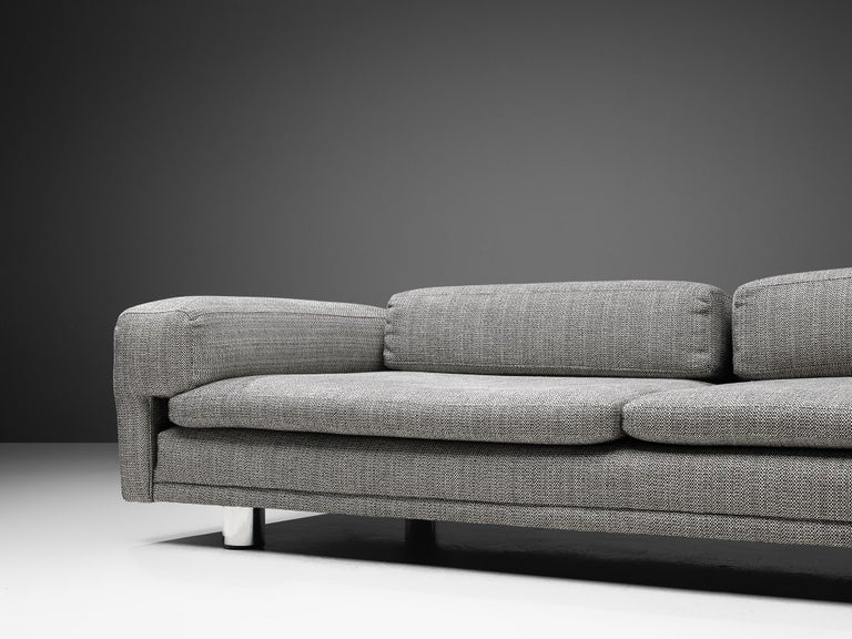 20th Century Howard Keith Grand 'Diplomat' Sofa in Grey Upholstery For Sale