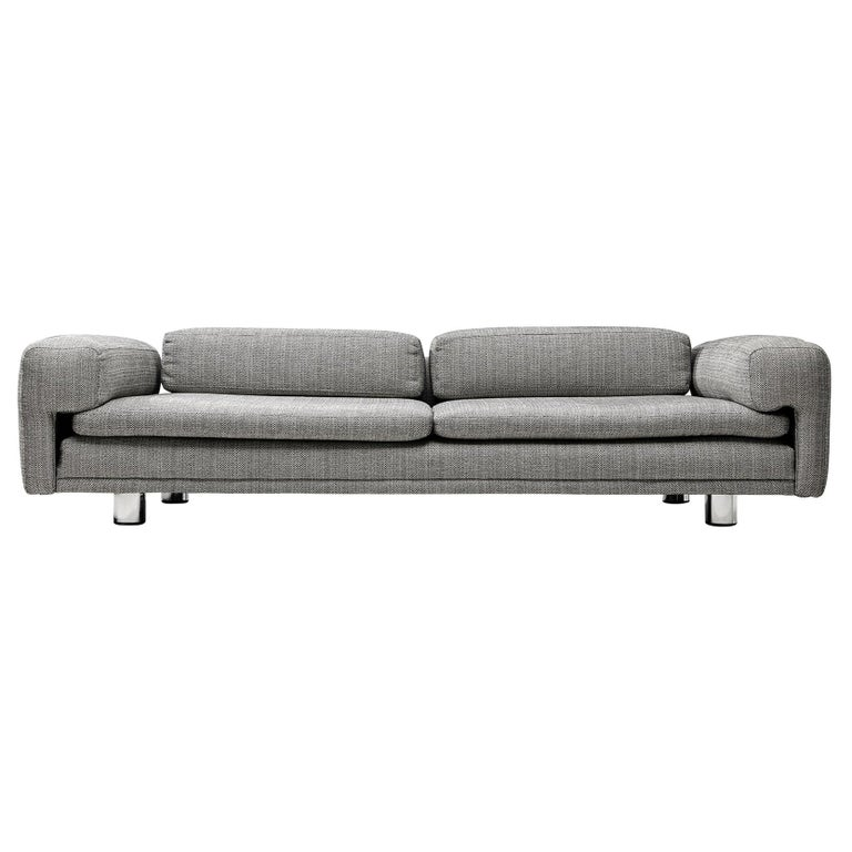 Howard Keith Grand 'Diplomat' Sofa in Grey Upholstery For Sale