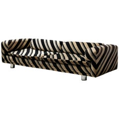 Howard Keith Grand 'Diplomat' Sofa in Original Striped Upholstery