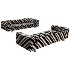Howard Keith Grand 'Diplomat' Sofas in Striped Fabric