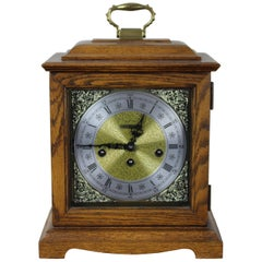 Howard Miller Graham Bracket Key Wound Mantel Clock Oak Case 340-020