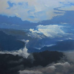"""""""Skylands"""", swirling atmosphere in blues and white"""