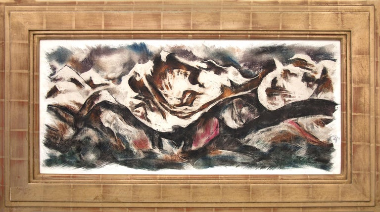 Howard Norton Cook Abstract Painting - Merino Valley