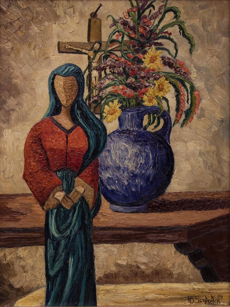 Madonna of the Picture - American Modern Painting by Howard Schleeter