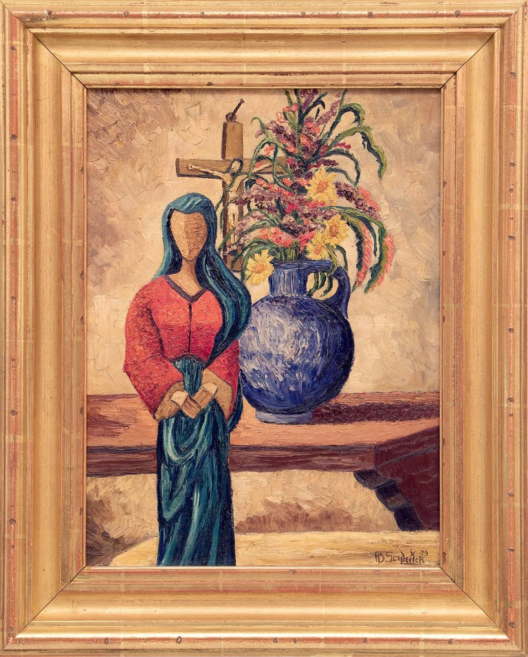 Howard Schleeter Still-Life Painting - Madonna of the Picture