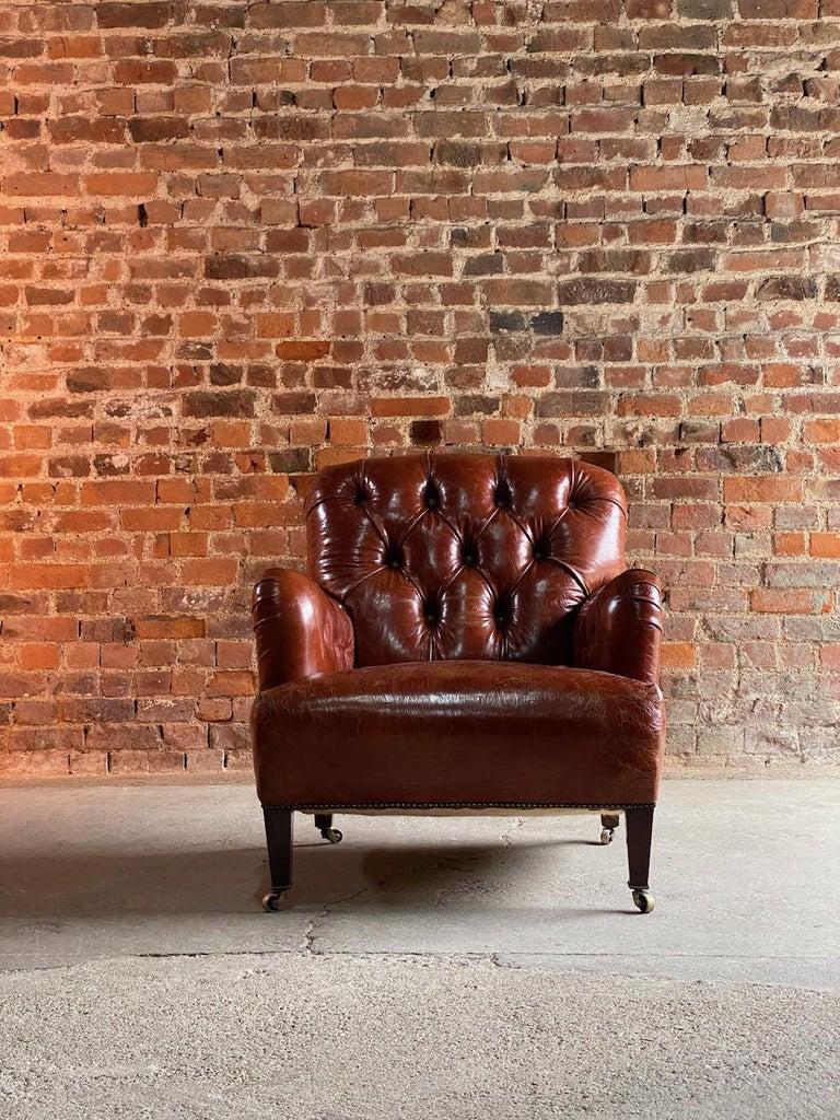 Leather Howard & Sons Bridgewater Armchair, 19th Century, circa 1890 For Sale