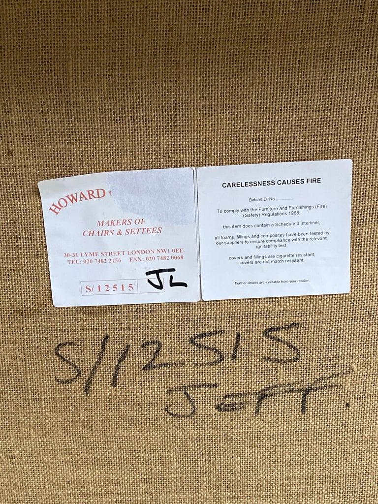 Howard & Sons Bridgewater Sofa Deep Seated Loose Cushion Bespoke 2014 Number 2 For Sale 4