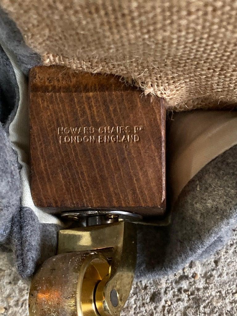 Howard & Sons Bridgewater Sofa Deep Seated Loose Cushion Bespoke 2014 Number 2 For Sale 5