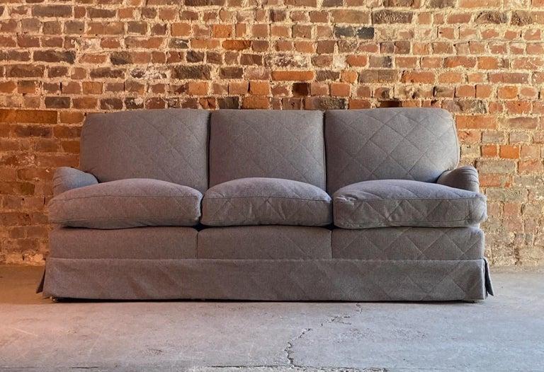 Howard & Sons Bridgewater Sofa Deep Seated Loose Cushion Bespoke 2014 Number 2 For Sale 6