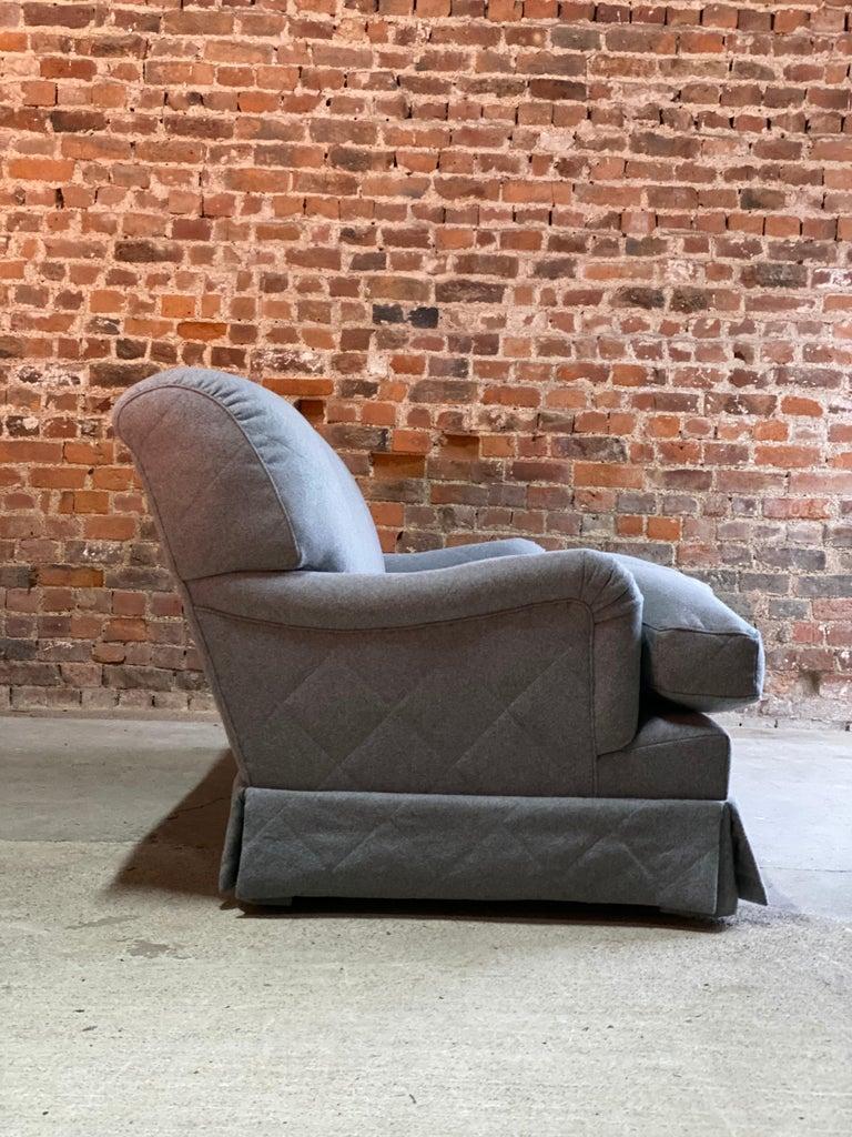 British Howard & Sons Bridgewater Sofa Deep Seated Loose Cushion Bespoke 2014 Number 2 For Sale