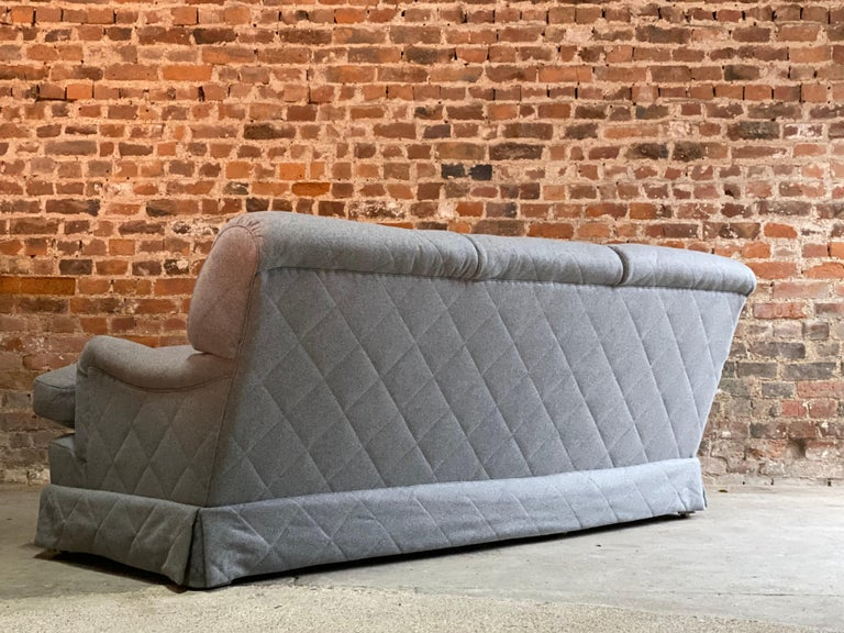 Contemporary Howard & Sons Bridgewater Sofa Deep Seated Loose Cushion Bespoke 2014 Number 2 For Sale