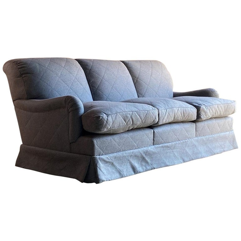 Howard & Sons Bridgewater Sofa Deep Seated Loose Cushion Bespoke 2014 Number 2 For Sale