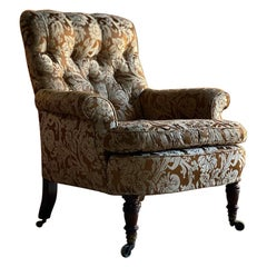 Howard & Sons 'Easy' Armchair, 19th Century England, Circa 1860