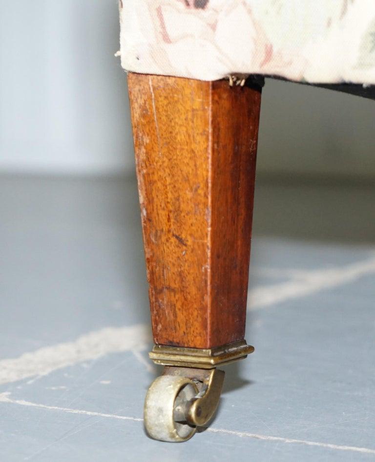 Howard & Son's Fully Stamped Original Victorian Walnut Armchair Original Castors For Sale 3