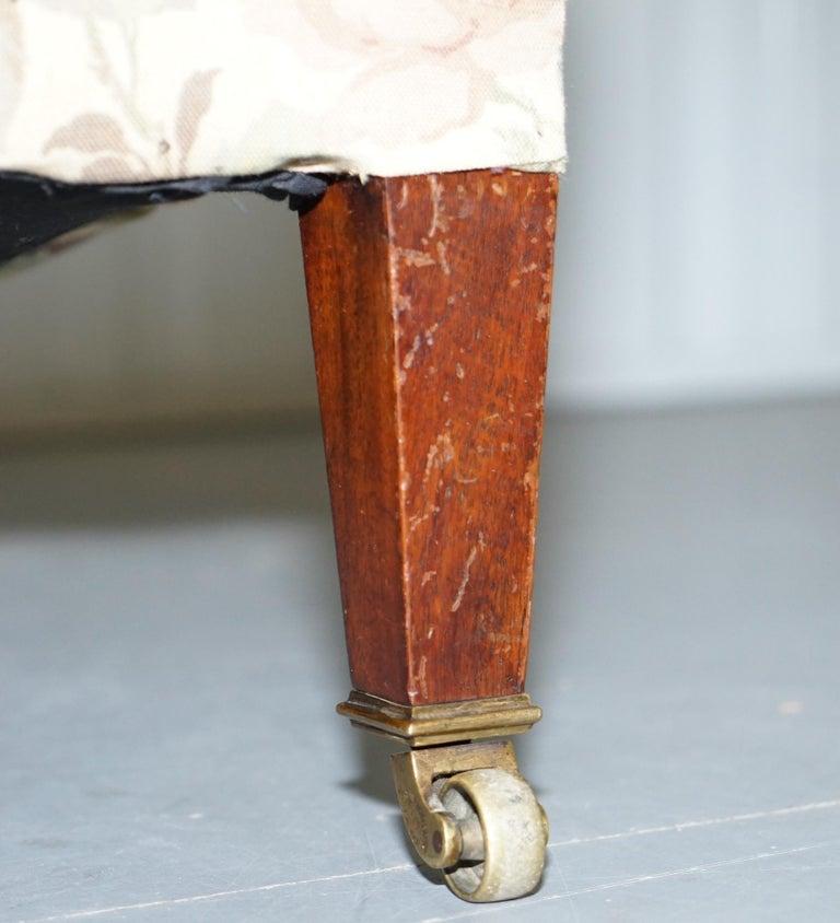 Howard & Son's Fully Stamped Original Victorian Walnut Armchair Original Castors For Sale 4