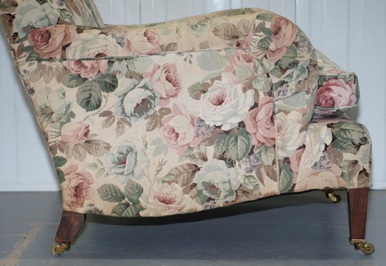 Howard & Son's Fully Stamped Original Victorian Walnut Armchair Original Castors For Sale 6